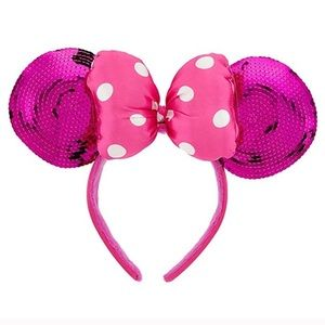 Disney Parks Minnie Mouse ears Hot pink sequins